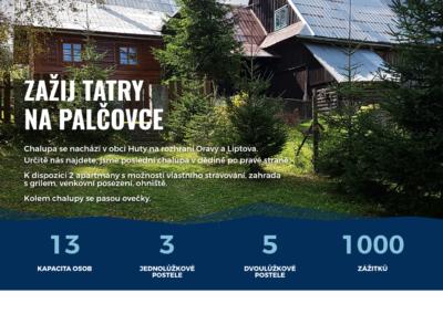 Palčovka - logo, web